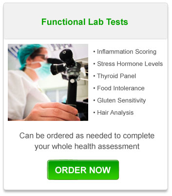 Functional Lab Tests- Can be ordered as needed to complete your whole health assessment